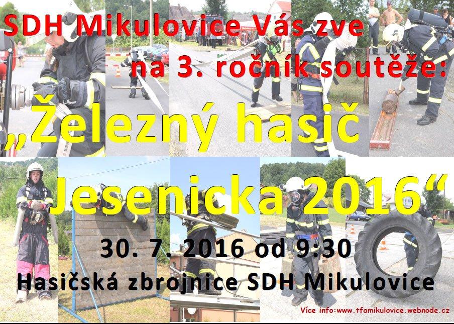 Železný hasič Jesenicka 2016 - TFA Mikulovice
